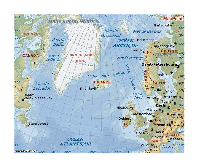 islande et monde